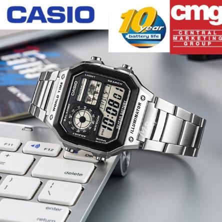 Casio นาฬิกาข้อมือผู้ชาย สายแสตนเลส